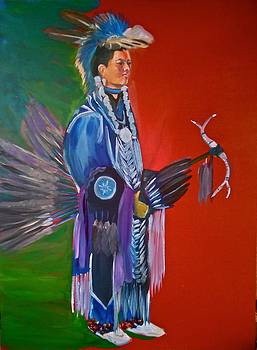 Kenyon Rainer pow wow dancer by George Chacon