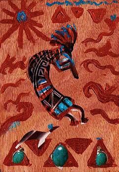 Anne-Elizabeth Whiteway - Kokopelli Playing His Flute