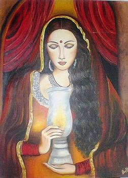 Lady With Lamp by Shilpi Singh
