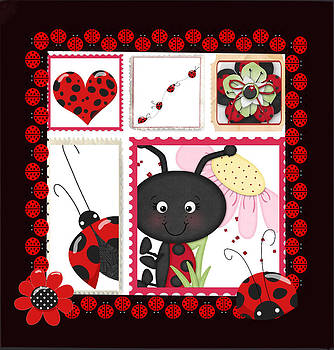 Ladybug Burst by Debra  Miller
