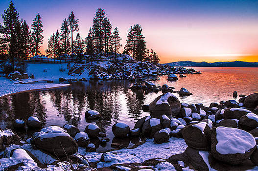 Lake Tahoe Winter Sunset by Brandon McClintock