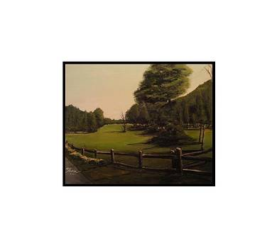 Landscape of Duxbury Golf Course - Image of Original Oil Painting by Diane Strain