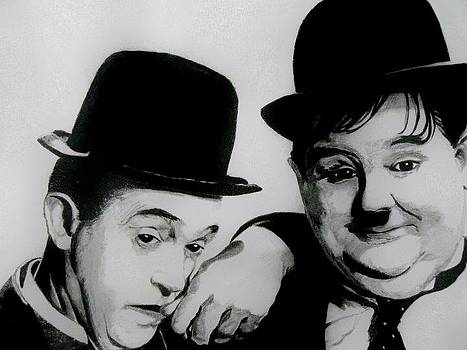 Laurel and Hardy by Catherine Davies