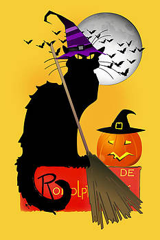 Gravityx9   Designs - Le Chat Noir - Halloween Witch