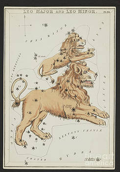 Science Source - Leo Major And Leo Minor Constellations