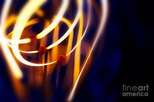 Light Bulb Filament by Mark Fearon