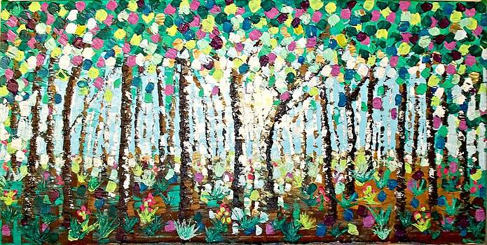 Light Through The Forest by Shirley Smith