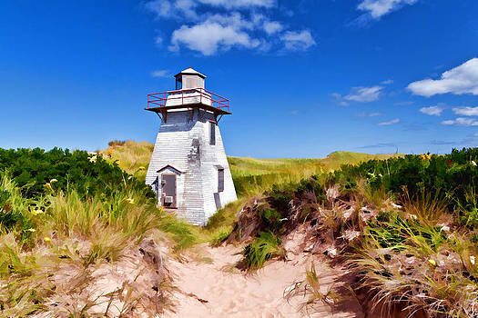 Lighthouse On The Dunes by Dan Dooley
