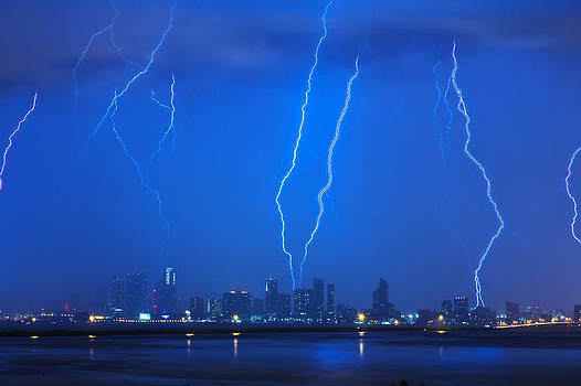 Lightning Over Miami by Derek Latta