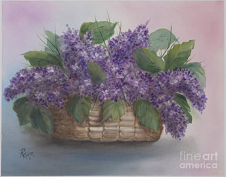 Lilac Basket by Rita Miller