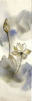 Alfred Ng - little lotus watercolor