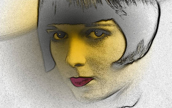 Louise Brooks Expressive Eyes by Ricardo  De Almeida
