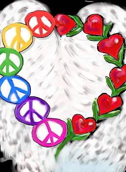 Love and peace by Raquel Amaral