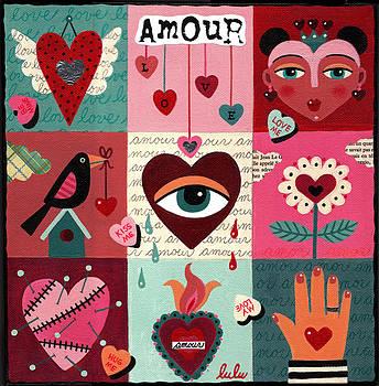 Love Heart Quilt by LuLu Mypinkturtle