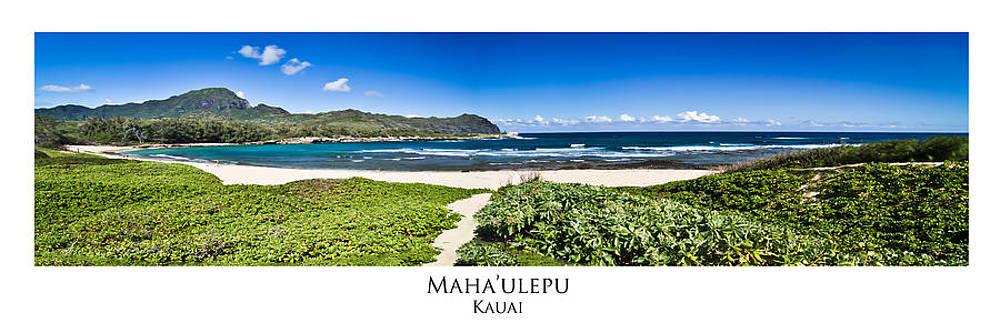 Roger Mullenhour - Mahaulepu Beach Kauai Panorama