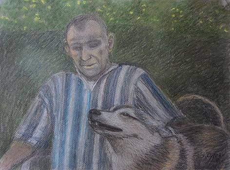 Man with His Wolf by Sandra Lytch