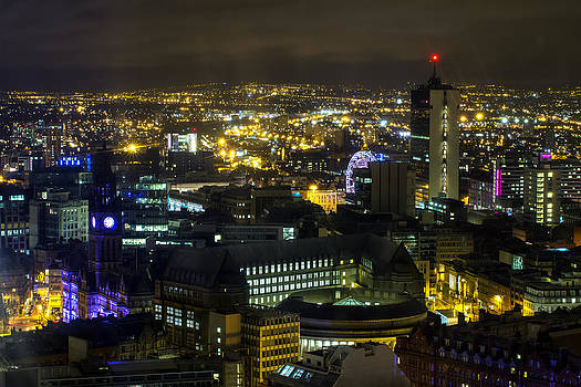 Manchester City Nightscape by Wayne Molyneux