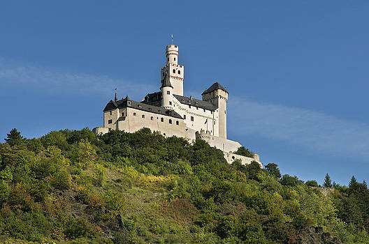 Marksburg Castle above Braubach Germany by David Davies