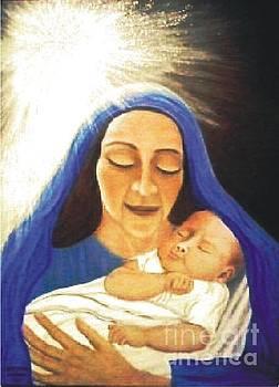 Mary And Baby Jesus by Patty  Thomas