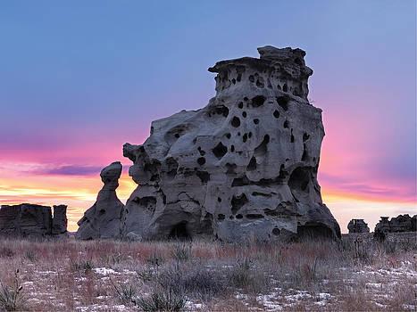 Leland Howard - Medicine Rocks Sunset