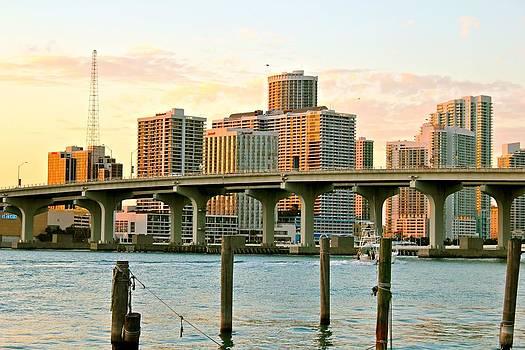 Miami MacArthur Causeway by Gary Dunkel
