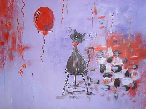 Modigliani with baloon by Alina Barbuceanu
