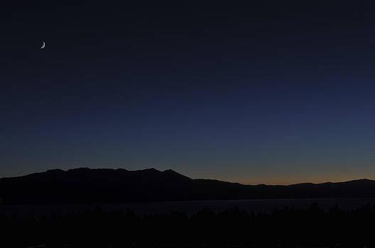 Moon Over Lake Tahoe by Gej Jones