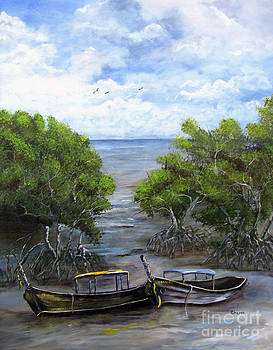 Moored Among The Mangroves by Sharon Burger