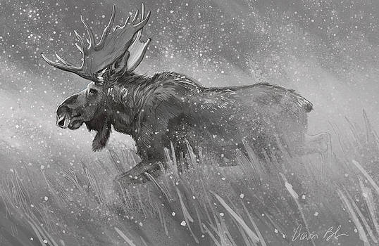 Moose Sketch by Aaron Blaise