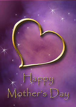 Mother's Day Gold Heart by Jeanette K