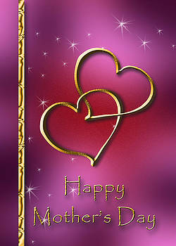 Mother's Day Gold Hearts by Jeanette K