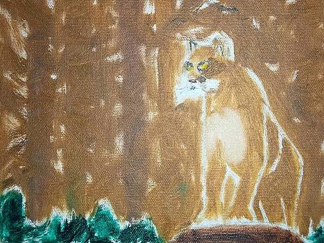 Mountain Lion Oil Painting by William Sahir House
