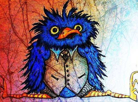Mr Blue Bird by Vickie Scarlett-Fisher