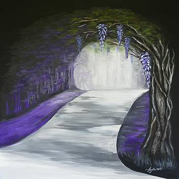 Mysterious Wisteria by Agata Lindquist