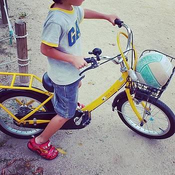 My grandson and my grandson bike by Yoshikazu Yamaguchi
