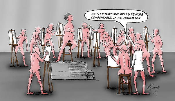 Naked Artists by R  Allen Swezey