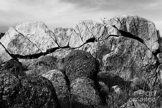 Natural rock wall  by Rich Collins