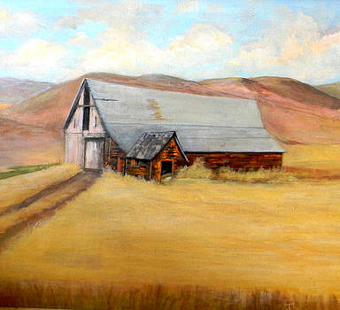 Nevada Barn by Judie White