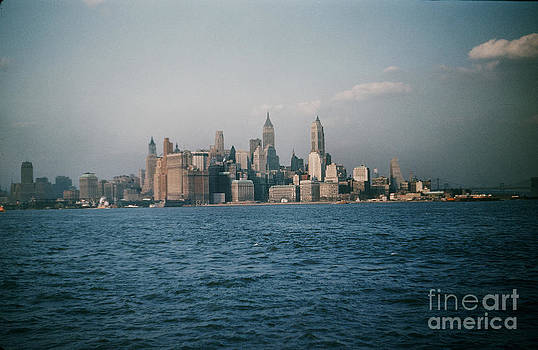 California Views Mr Pat Hathaway Archives - New York skyline as seen from the Circle Line Ferry Manhattan New York City circa 1957