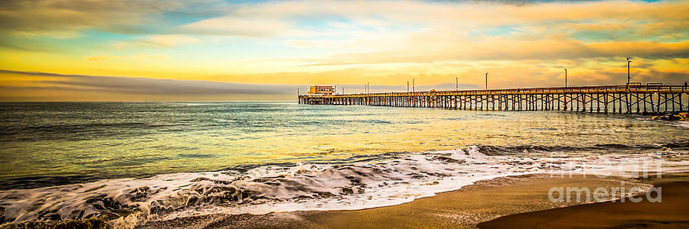 Newport Beach California Pier Panorama Photo by Paul Velgos
