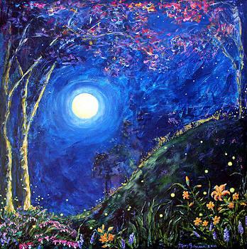 Night Lilies by Mary C Farrenkopf
