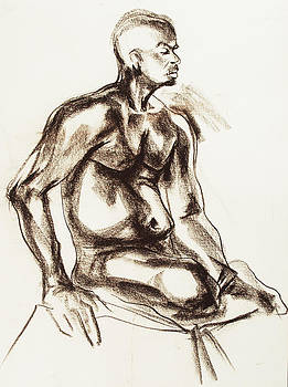 Nude by pastel by Olusha Permiakoff