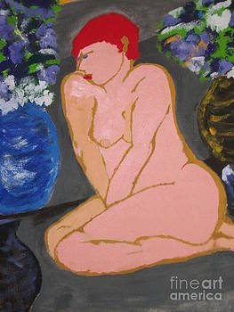 Nude Lady with Red hair by JR Leveroni