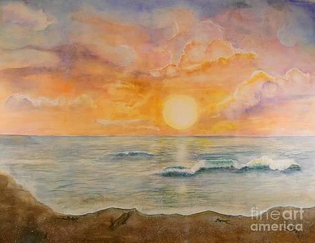 Ocean Sunrise by Holly Banks