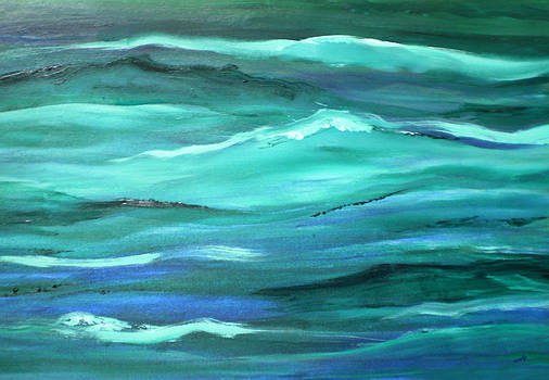 Valerie Anne Kelly - Ocean swell abstract painting by V.Kelly