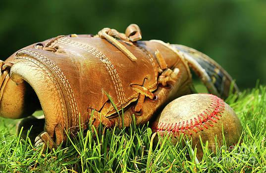 Sandra Cunningham - Old glove and baseball