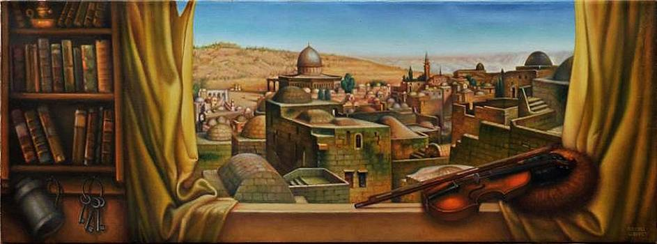 Old Jerusalem. View on The Temple Mount.  by Eduard Gurevich