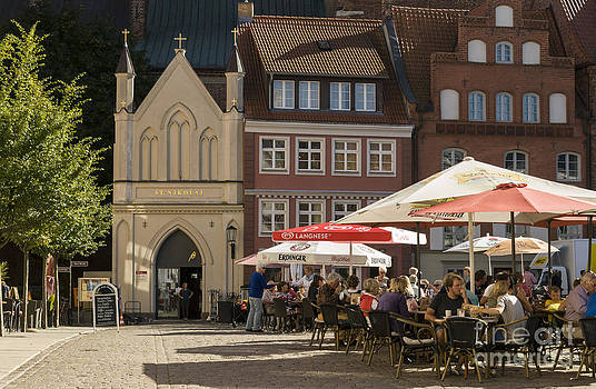Old Market Square Stralsund Germany by David Davies