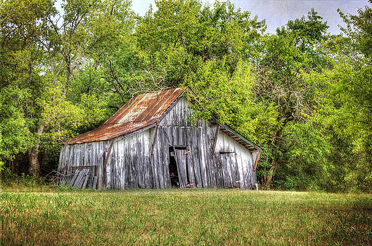 Old White Barn by Lisa Moore