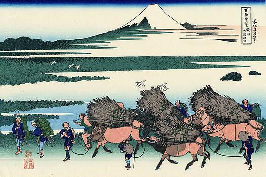 Ono Shindon In The Suraga Province by Katsushika Hokusai